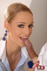 Hot Erica Fontes sloppy blowjob