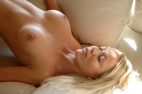 Tempting blonde Ivana teasing