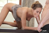 Horny Simona morning sex in the kitchen