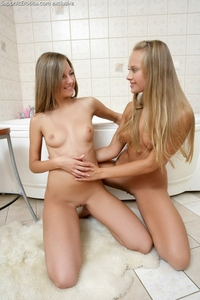 Sexy teen lovers in the bathroom
