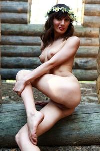Tempting Audrey teasing naked