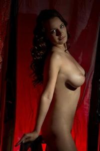 Busty Katherina's huge natural boobies