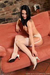 Beautiful hostess Anna posing naked