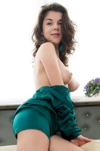 Teen brunette Dakana perky tits