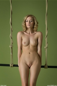 Beautiful blonde babe Gabi posing