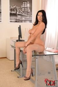 Busty Kira Queen office lady boobies