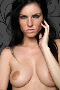 Tempting brunette Eileen teasing naked
