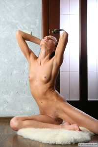 Tempting angel Sandra naked at home