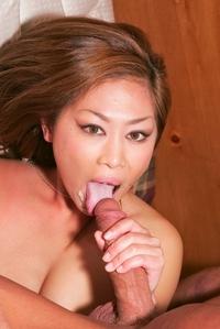 Horny Thai slut Yumi pumping dick