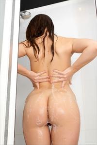 Tight ass virgin Jenna bending in shower