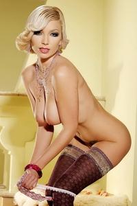 Busty blonde Aiwe big natural titties