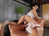 Tight ass latina Sara Luvv bending naked