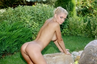 Young blondie Sabrina from garden of eden
