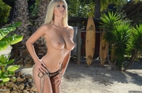 Sexy blonde Marketa's tight bikini