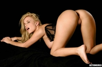 Cheeky blonde Angie teasing naked