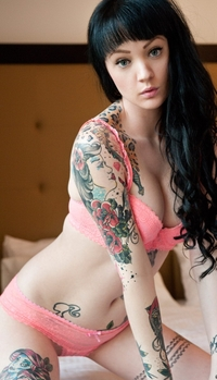 Sweet Vorpal tattooed sextoy
