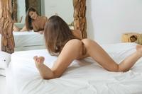 Tempting brunette Lorena teasing