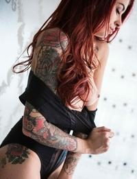 Sexy slut Tristyn with tattooes