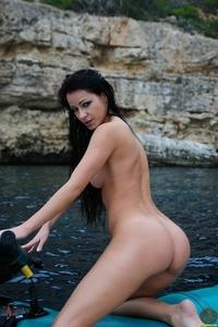 Sexy Kristina's jet ski shooting