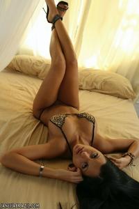Sweet latina's leopard bikini