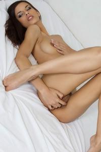 Kinky little brunette Candice Luka pussy