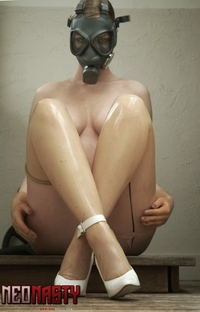 Naughty slut in the mask