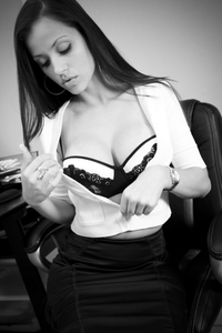 Sexy stripping in the office