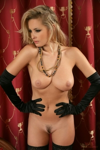 Cheeky blonde Zdenka teasing nude
