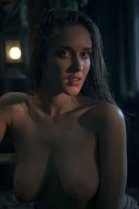 Erotic Brunette Emily Masturbates In The Darkness