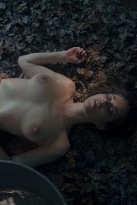 Erotic Brunette Emily Masturbates In The Darkness