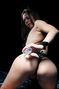 Oiled And Handcuffed Erotic Girl Mia Luna