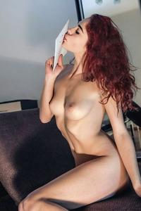 Sexy Skinny Redhead Tempting Angel Callista