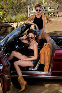 Ariana Marie And Nicole Aniston Lesbian Show On The Car