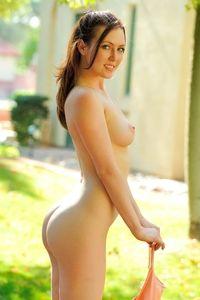 Gorgeous babe Meghan posing in public