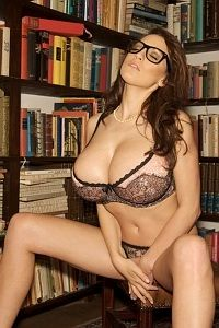 Cheeky Jordan Carver naughty librarian