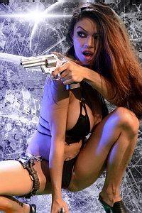 Wild wild bitch with a gun