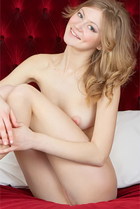 Petite Chick Naked On Bed