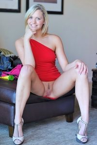 Young blonde Mia Malkova stripping