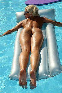 Sexy Blonde In The Pool