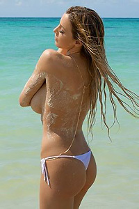 Jordan Carver On The Beach