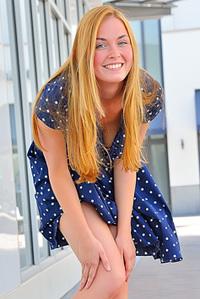 Blonde Babe In Her Lovelydress
