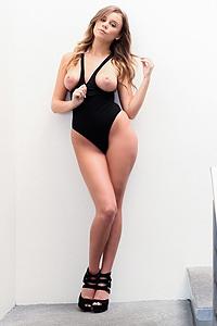 Alexis Adams In Black Bodysuit