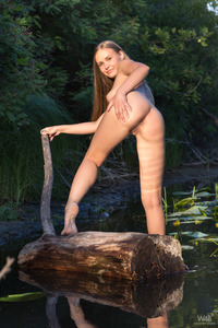 Blonde Angel Posing Naked In The Nature