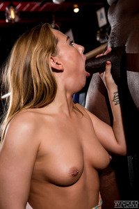 Carter Cruise Takes A Black Cock In A Bar
