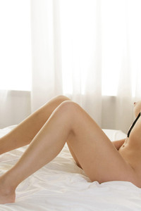 Sexy Brunette Naked On Bed